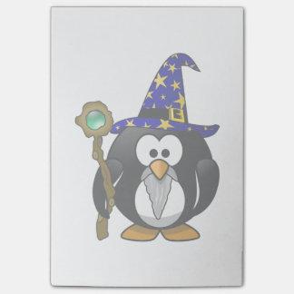 Post-it® Bande dessinée de pingouin de magicien