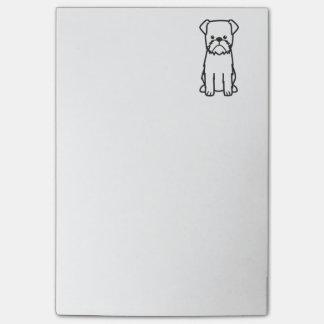 Post-it® Bande dessinée de race de chien de griffon de