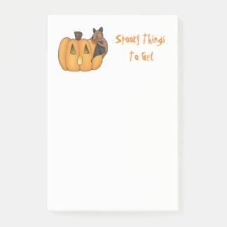 Post-it® Batte de festin de Halloween à la liste de Do/Buy