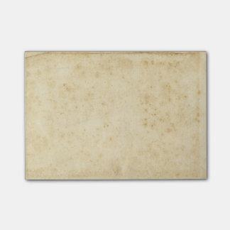 Post-it® Beau vieux papier vide antique souillé rustique