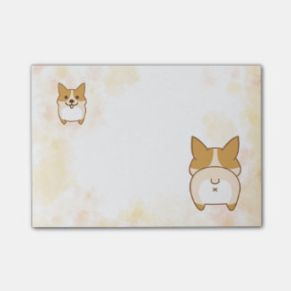 Post-it® Belles notes de post-it de bout de corgi
