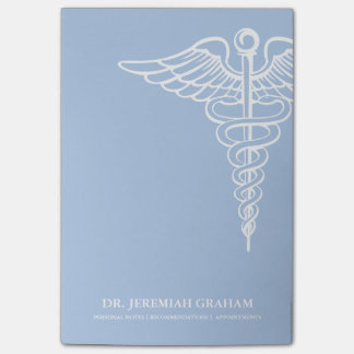 Post-it® Blanc personnalisé par bureau médical et bleu