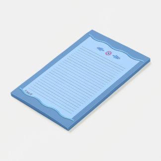 Post-it® Bleus classiques avec les frontières onduleuses -