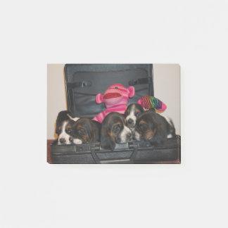 Post-it® Bloc-notes de chiot de chien de basset