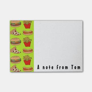Post-it® Bloc-notes de post-it d'aliments sans valeur