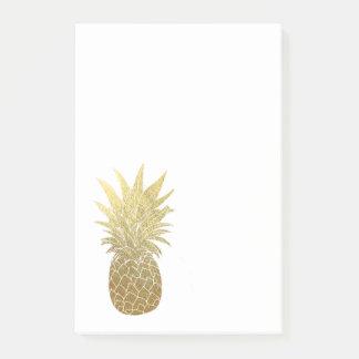 Post-it® Bloc - notes de post-it d'ananas d'or