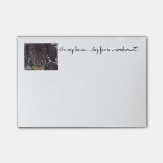 Post-it® bloc-notes lunatique de teckel miniature