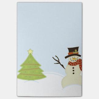 Post-it® Bonhomme de neige et arbre