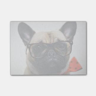 Post-it® Bouledogue français avec les verres et la cravate
