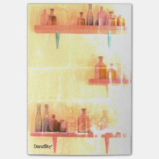 """Post-it® Bouteilles vintages"""" notes de post-it chics"""