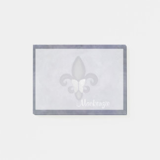 Post-it® Bureau têtu | Butterfly Fleur de Lis pourpre