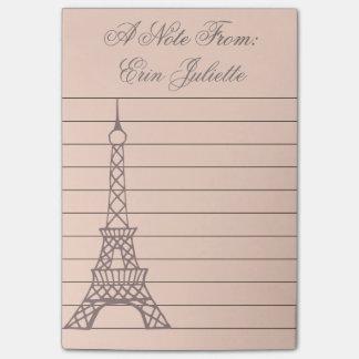 Post-it® Cadeau de Tour Eiffel de note de post-it de la