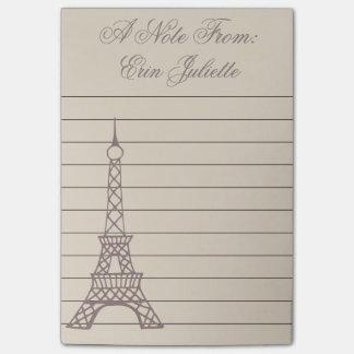 Post-it® Cadeau de Tour Eiffel de Paris de la fille