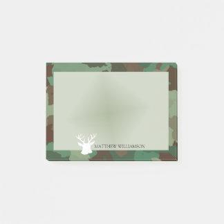 Post-it® Cadre vert personnalisé de Camo avec la silhouette