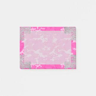 Post-it® Camo rose avec le scintillement de Faux