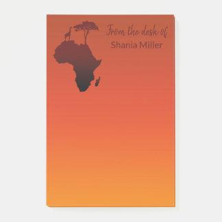 Post-it® Carte africaine de safari - notes de Courrier-it®