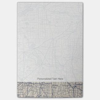 Post-it® Carte de route de bicyclette du Wisconsin 4