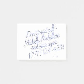 Post-it® Carte de visite collant de griffonnage