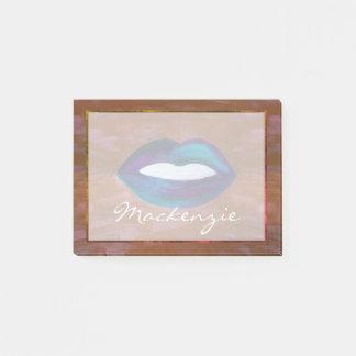 Post-it® Charme nommé amoureux de rouge à lèvres du baiser