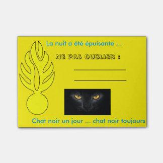 Post it chat noir ! Nuit difficile Notes Post-it
