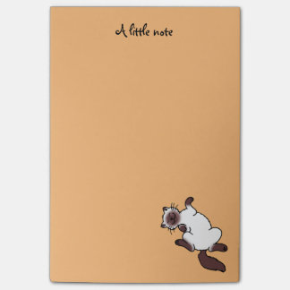 Post-it® Chat siamois de point mignon de chocolat