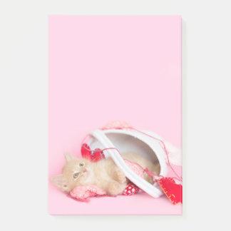 Post-it® Chaton de Valentine