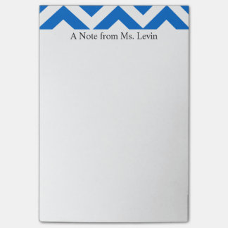 Post-it® Chevron blanc bleu raye les notes de post-it