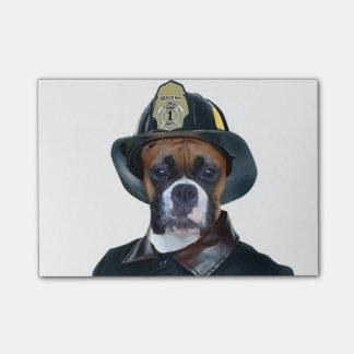 Post-it® Chien de boxeur de pompier