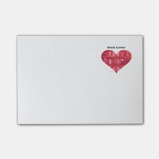 Post-it® Coeur d'amoureux des livres