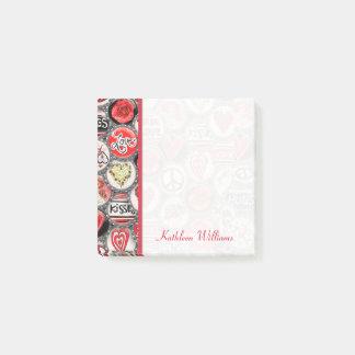 Post-it® Coeurs de capsule de Saint-Valentin 3 x 3