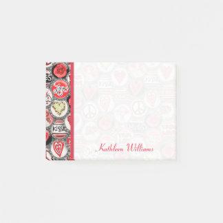 Post-it® Coeurs de capsule de Saint-Valentin 4 x 3