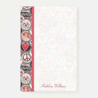 Post-it® Coeurs de capsule de Saint-Valentin 4 x 6