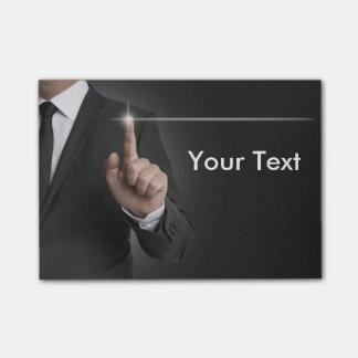 Post-it® Concept d'anthracite d'écran tactile d'homme