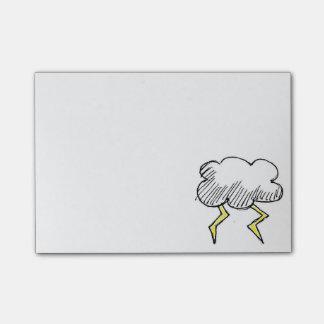 Post-it® Conception de nuage de tempête de bande dessinée
