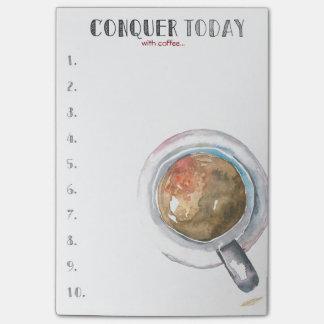 Post-it® Conquérez aujourd'hui (avec du café…)