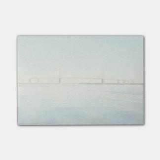 Post-it® Copie d'aquarelle de pont de Charleston la