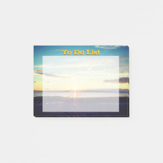 Post-it® Coucher du soleil pour faire la liste