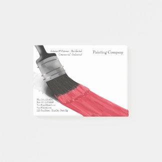 Post-it® Couleur rouge de brosse de peinture - notes de