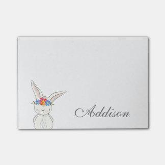 Post-it® Couronne blanche mignonne de fleur de lapin