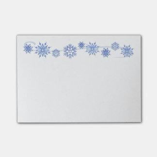 Post-it® Courrier--Notes de flocons de neige d'hiver