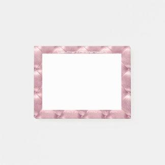 Post-it® Coutume de bureau de peau ornée par or rose