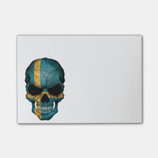 Post-it® Crâne suédois personnalisable de drapeau