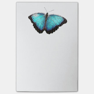 Post-it® Croquis bleu de photographie de papillon