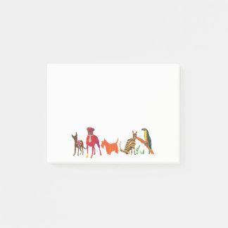 Post-it® Défilé à la mode des chiens et du toucan de chats