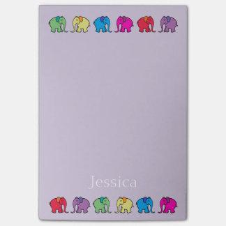 Post-it® Défilés personnalisés d'éléphant colorés par
