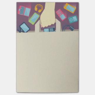 Post-it® Dispositifs de Digitals tombant dans un sac à