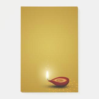 Post-it® Diwali heureux Diya - notes de Courrier-it®
