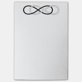 Post-it® Double infini de symbole - noir et blanc