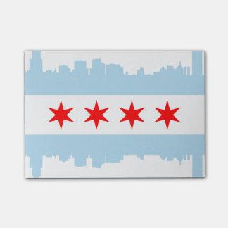 Post-it® Drapeau d'horizon de Chicago