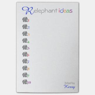 Post-it® Éléphant créatif personnalisé d'idées de